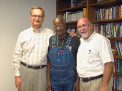 Terry VanDerAa, Bishop, and Manny Mill
